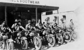 Australian Military Despatch Riders, Carey Street, Giru, ca. 1942