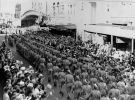 Large contingent of soldiers march through Fortitude Valley during World War II, ca. 1943