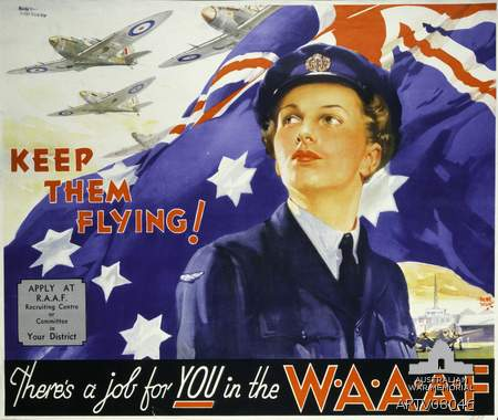 WW2 Recruitment poster for the Women's Auxiliary Australian Air Force