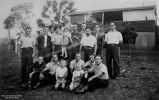 Italian POWs at Beattie's Calico Creek farm, near Gympie, Queensland, 1940s