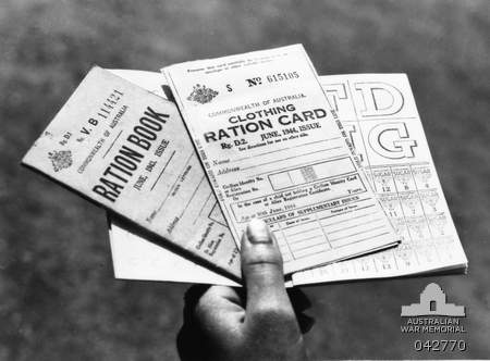 June 1944. Ration books for food and clothing