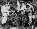 Australian officer with soldiers from the Dutch East India Army, Cairns, ca. 1942
